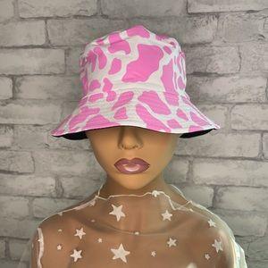 Pink Cow Print Bucket Hat